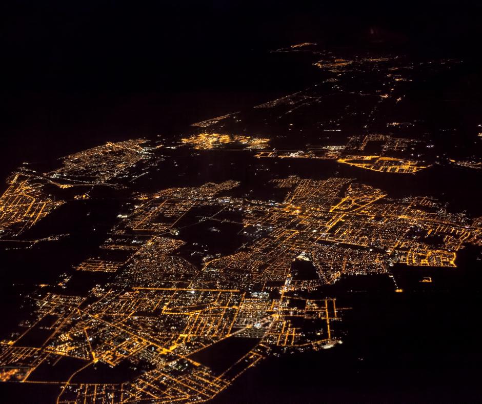 Ostia e Fiumicino di notte
